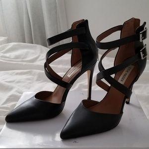Steve Madden Klassssy Leather Strappy Heels